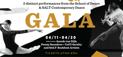 School of Dance Gala presents diverse dance concerts including International guest artist, local dance company collaboration and over 75 dancers