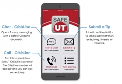 A safer U that begins with you. Say hello to the new SafeUT app.