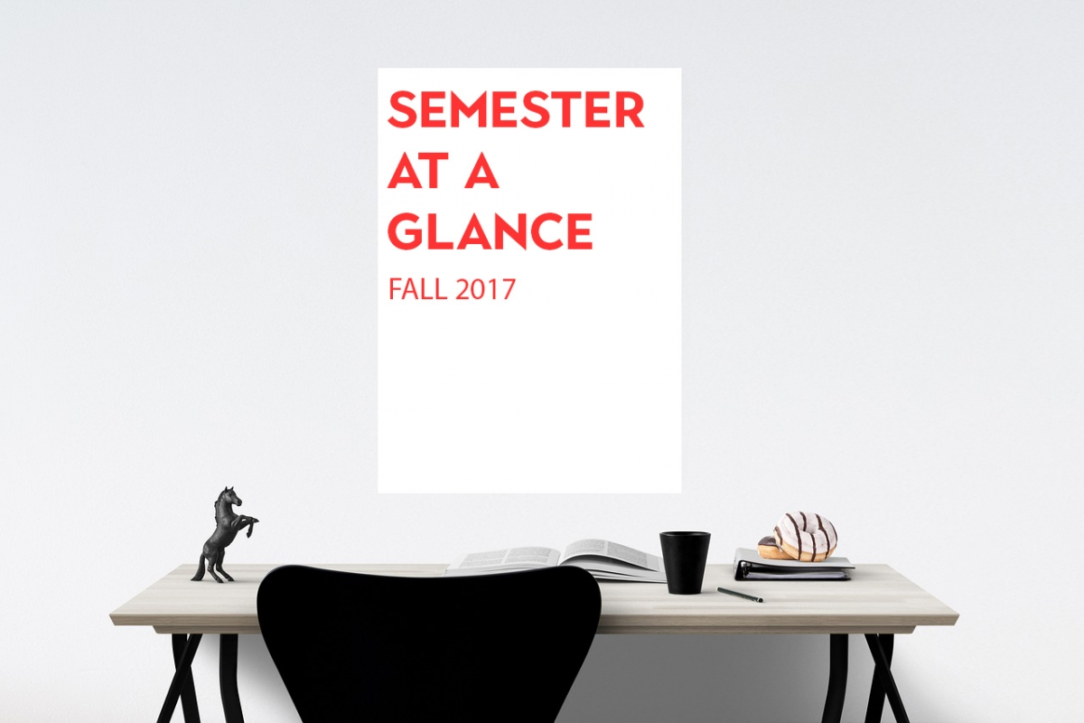 Semester at a glance: Fall 2017