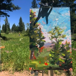 Department of Art & Art History student Kendyl Schofield pursues landscape painting after summer painting residency in Montana