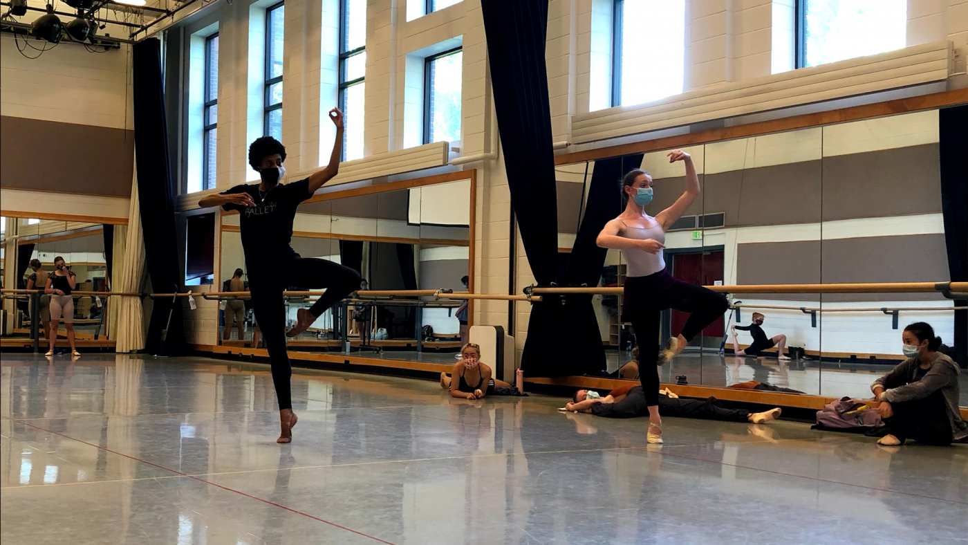 U School of Dance students in rehearsal for Utah Ballet I