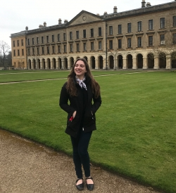 2019 Outstanding Art & Art History senior Vasiliki Karahalios attends the Oxford Human Rights, Violent Conflict and the Struggle for Peace workshop.