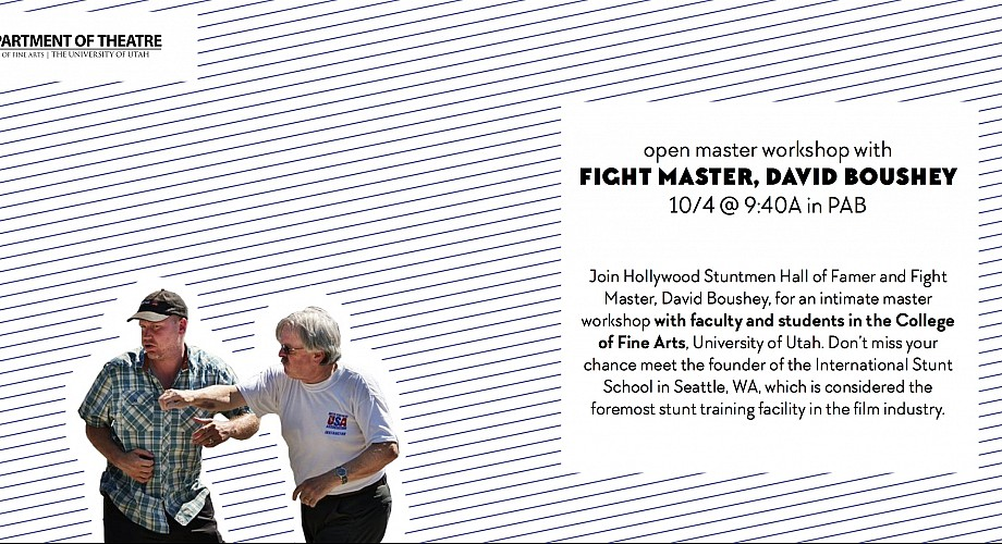 Join the Department of Theatre for a workshop with fight master David Boushey